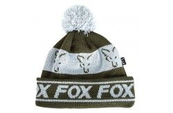 Fox Green & Silver Lined Bobble