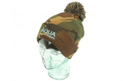 Aqua Camo Bobble Hat