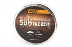 Fox Submerge™ Sinking Braided Mainline - Dark Camo 55LB/0.30MM 300M