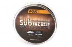 Fox Submerge™ Sinking Braided Mainline - Dark Camo 55LB/0.30MM 300M
