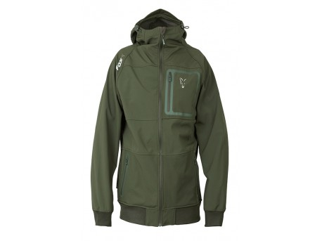 Fox Collection Green Silver Shell Hoodie