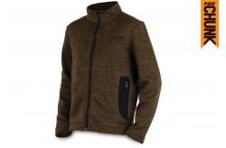 Chunk Medium Knit Pullover Khaki Marl - Size XL