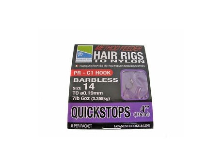Hair Rigs Quickstops 4'