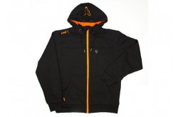 Heavy Lined Hoody Black/Orange