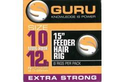 15' Feeder Hair Rigs Standard Size 10 line 12 lb