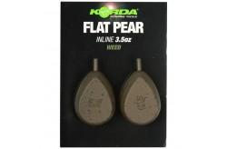 Korda Flat Pear Inline Blister 2 Pezzi
