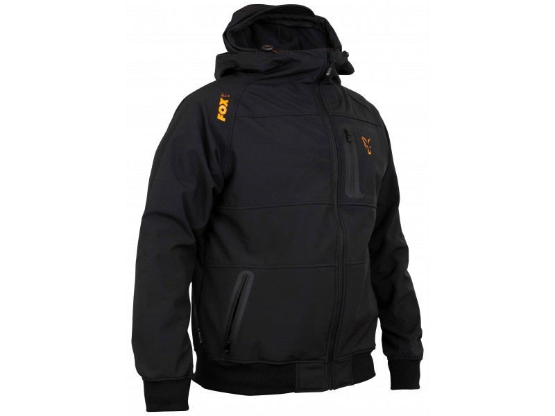 Fox Collection Quilted Jacket Black//Orange XL