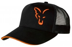 Fox Black/ Orange trucker cap