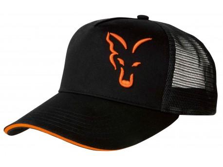 Fox Black/ Orange trucker cap